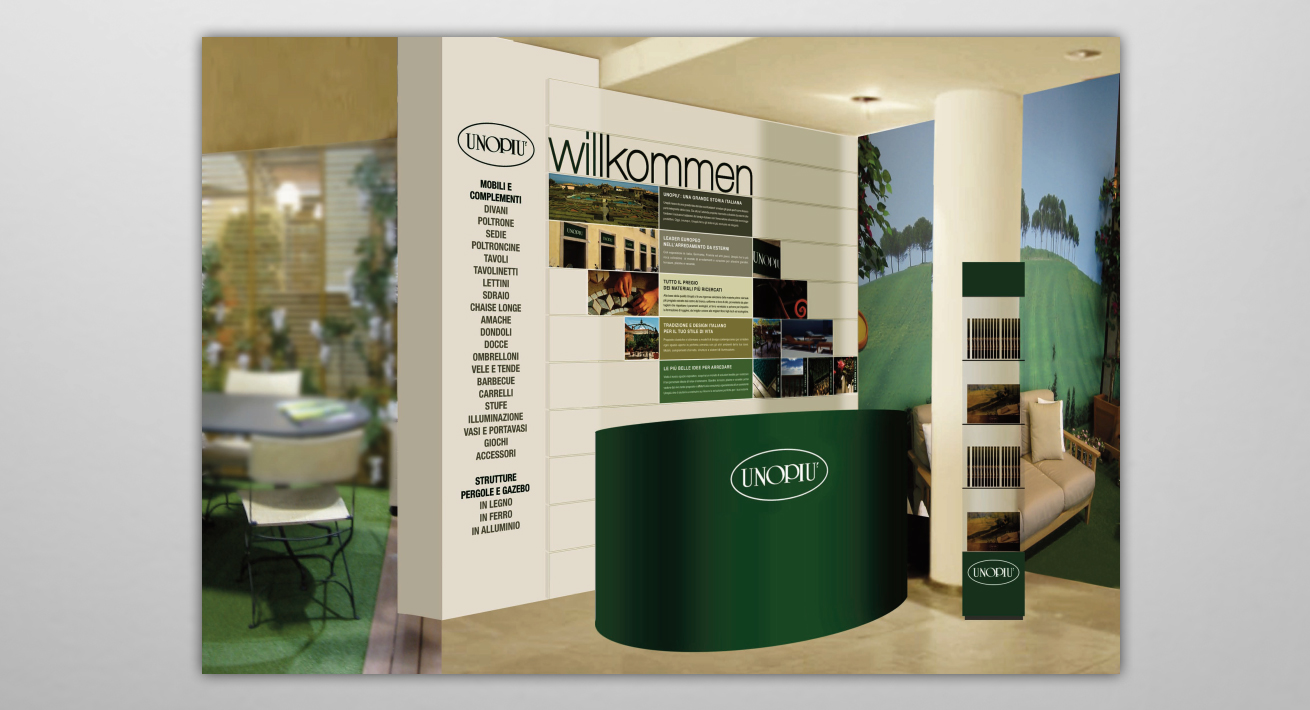 In-store communication Welcome Area - Unopiù