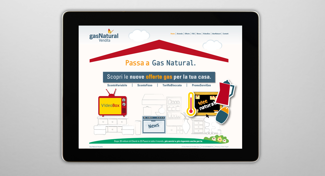 Minisito IdeaNatural - Gas Natural Vendita