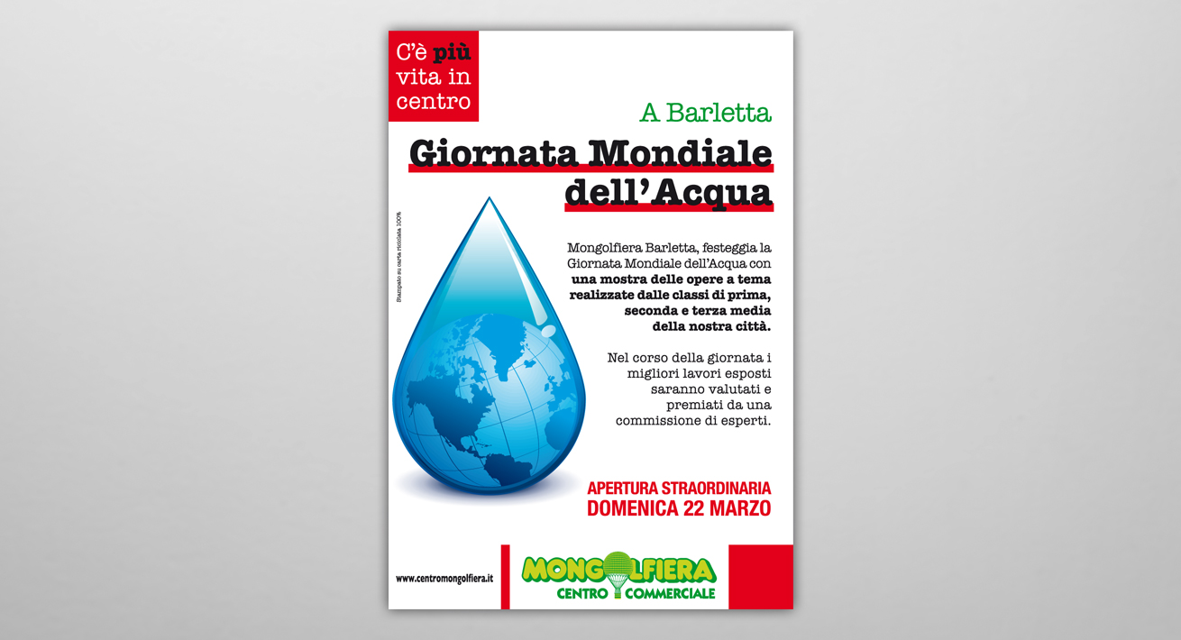 Giornata mondiale dell'acqua - C.C. Mongolfiera Barletta