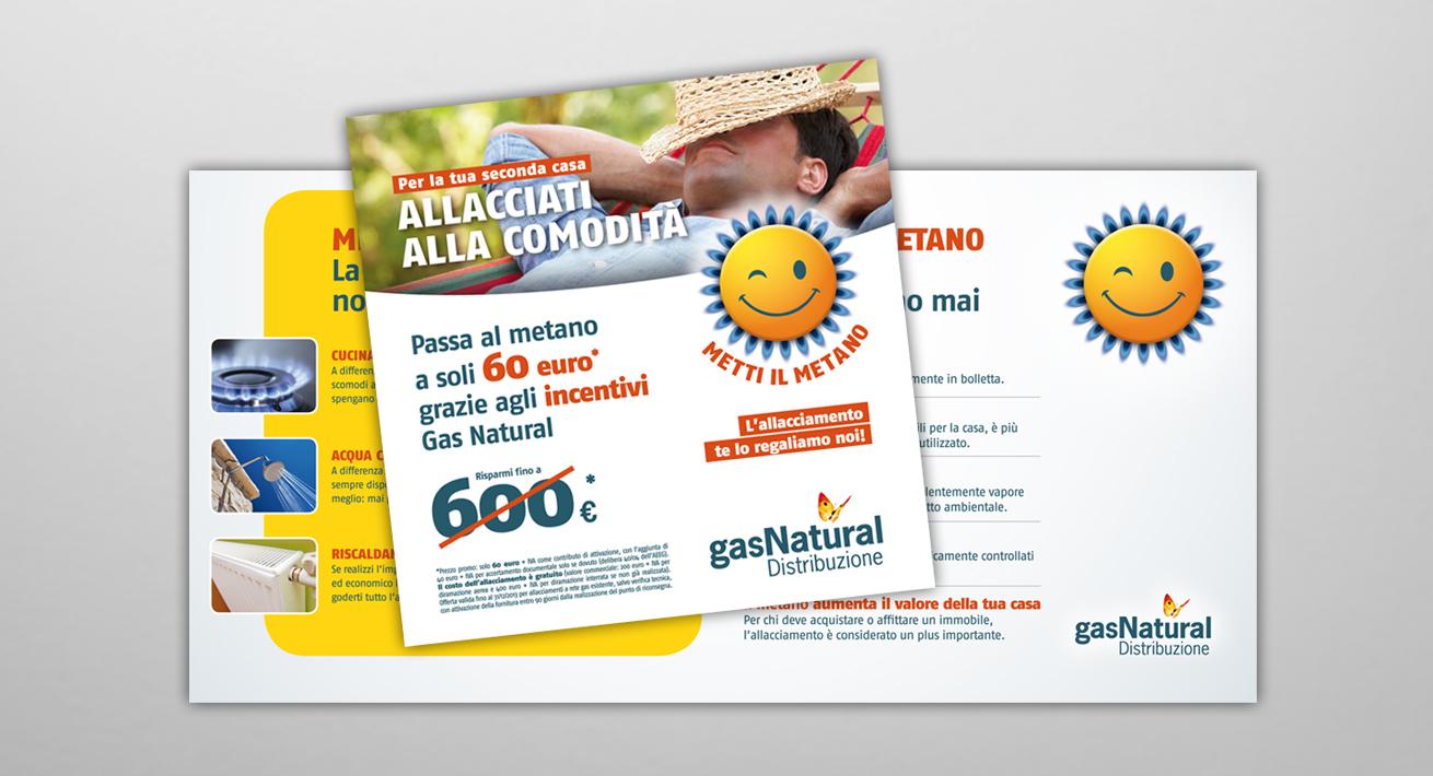 """Campagna promozionale """"Allacciati alla comodità"""" Gas Natural Distribuzione"""