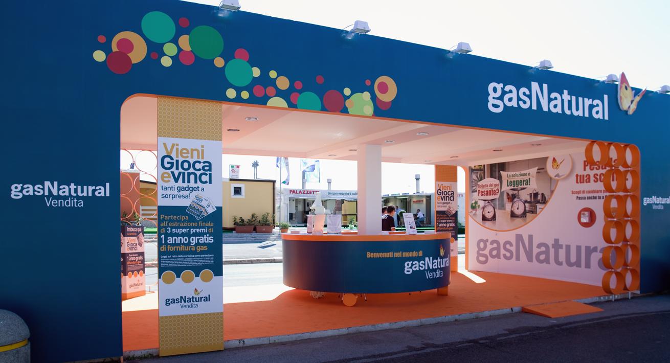 Stand promozionale Fiera del Levante Gas Natural Vendita