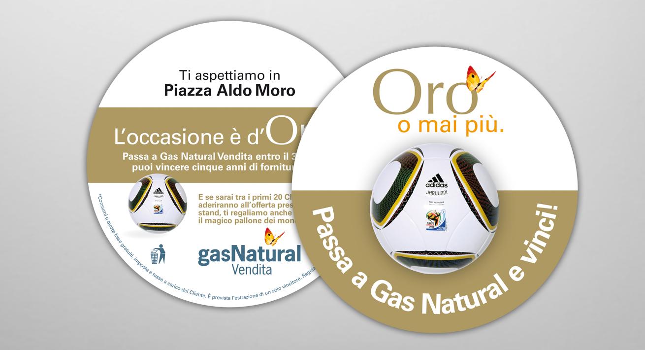 """Operazione promozionale """"Mondiali 2010"""" Gas Natural Vendita"""