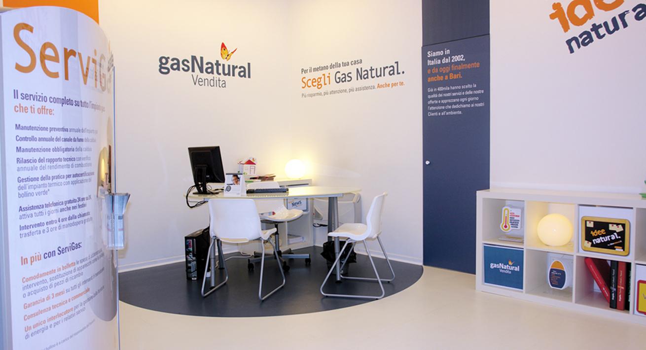 Temporary Shop a Bari - Gas Natural Vendita