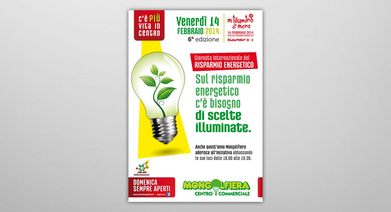 Progetto M'illumino di meno - Centro Commerciale Mongolfiera