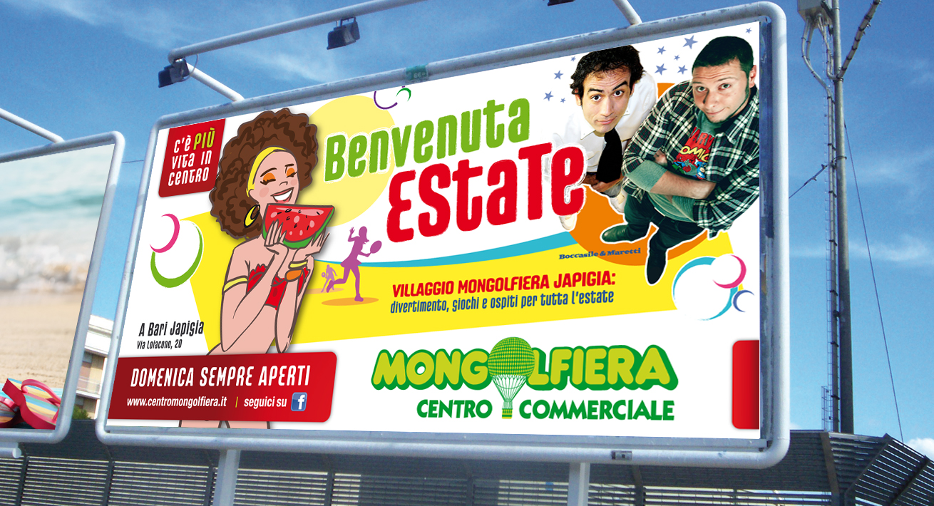 Campagne promozionali Centro Commerciale Mongolfiera