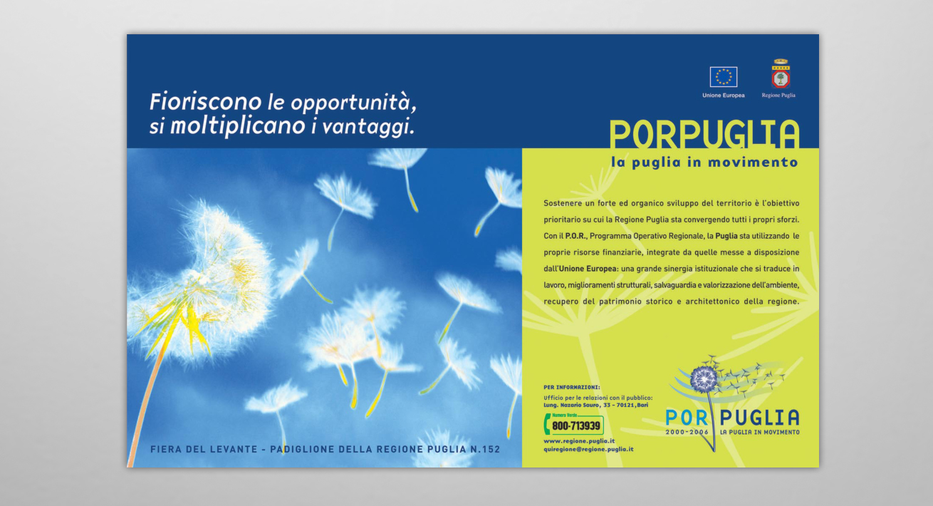 Campagna istituzionale POR Puglia / Regione Puglia