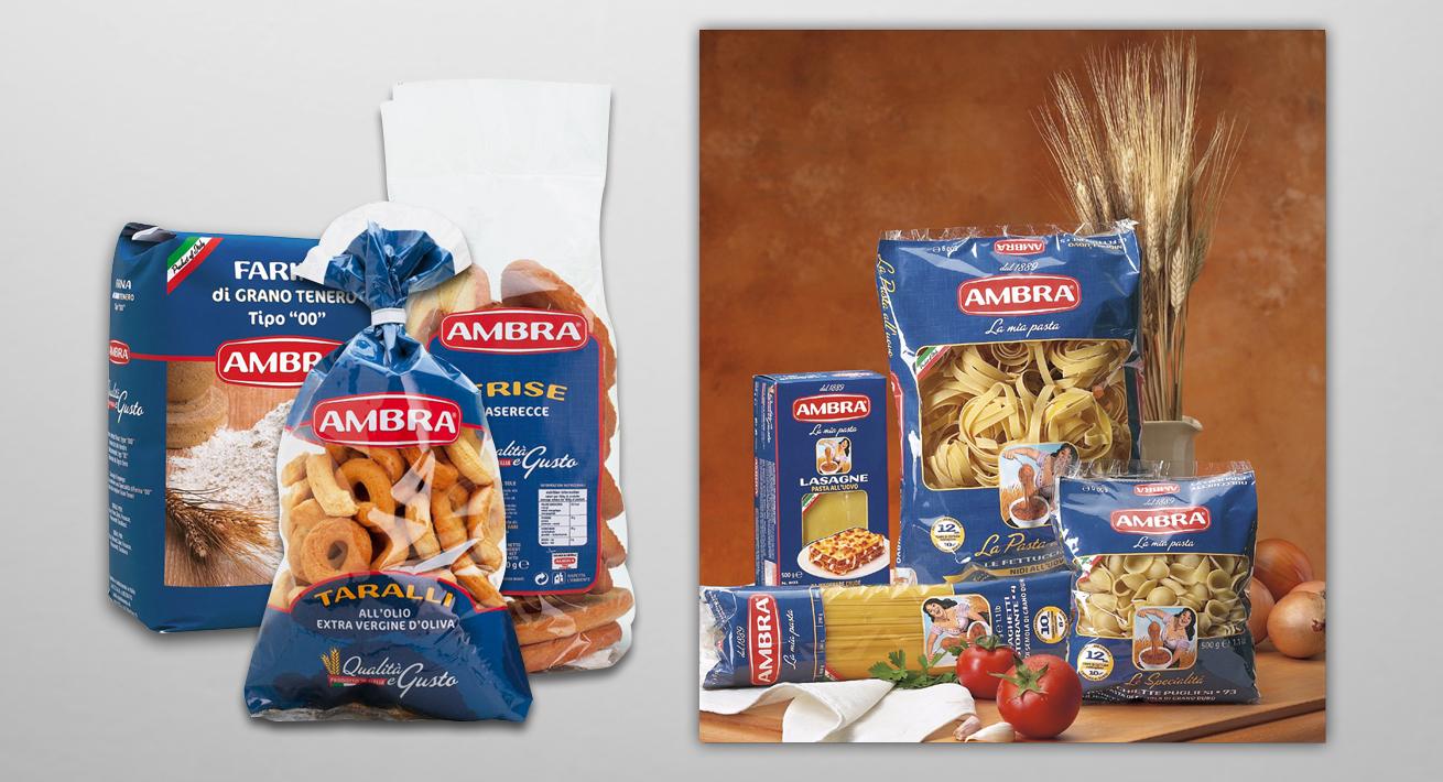 Immagine coordinata e comunicazione istituzionale - Pasta Ambra