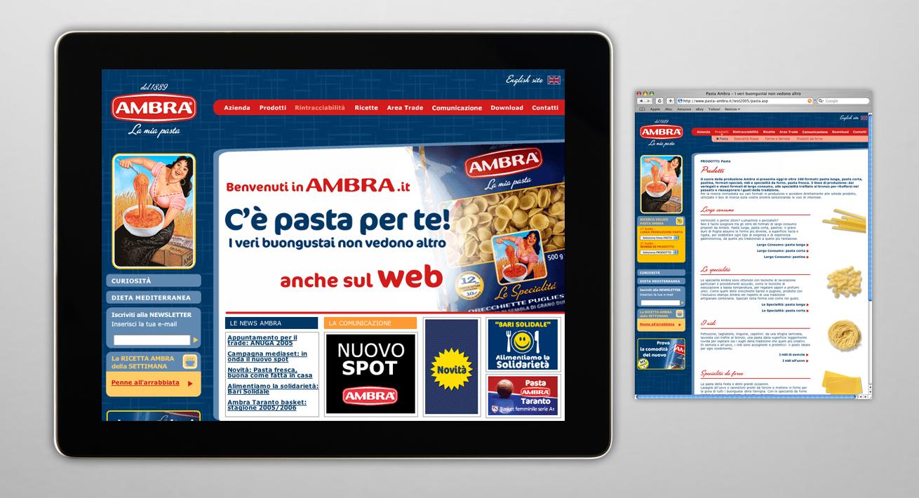 Immagine coordinata e comunicazione istituzionale Pasta Ambra