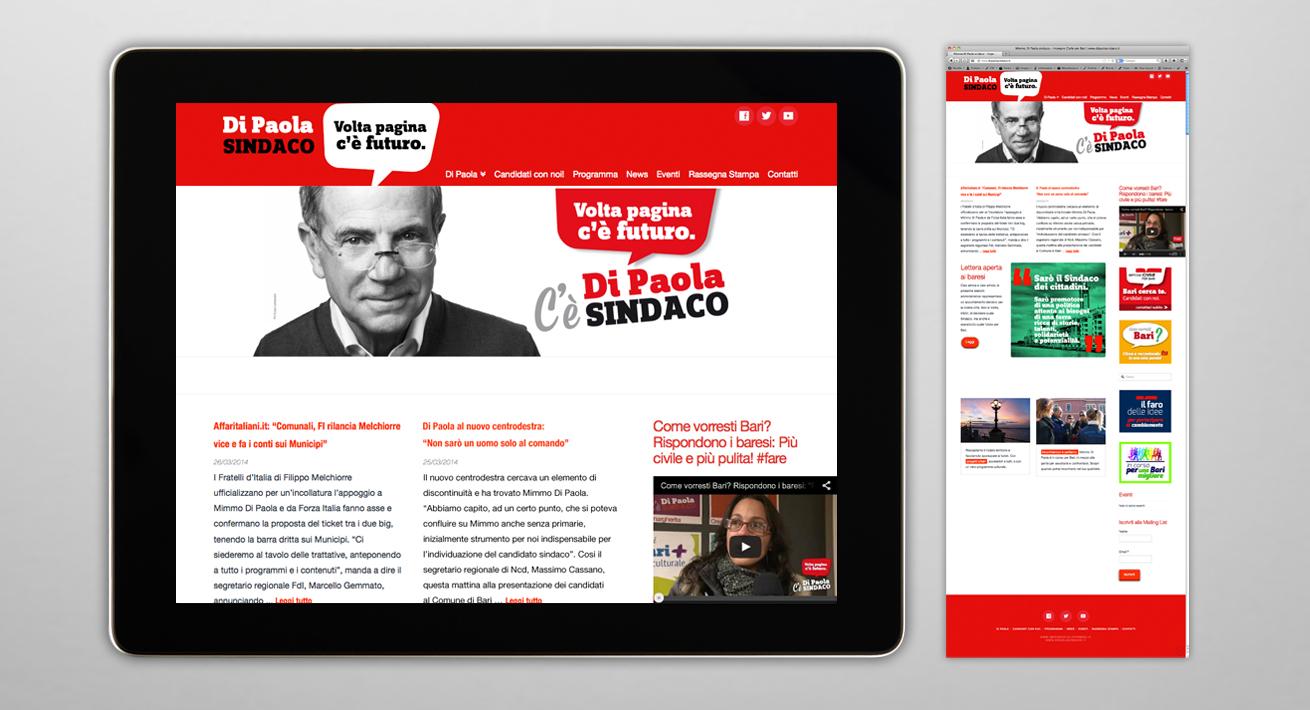 Web Site Elezioni comunali 2014 Bari - Candidato Di Paola