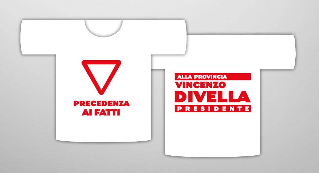 T-shirt Elezioni provinciali 2004 Bari - Candidato Divella