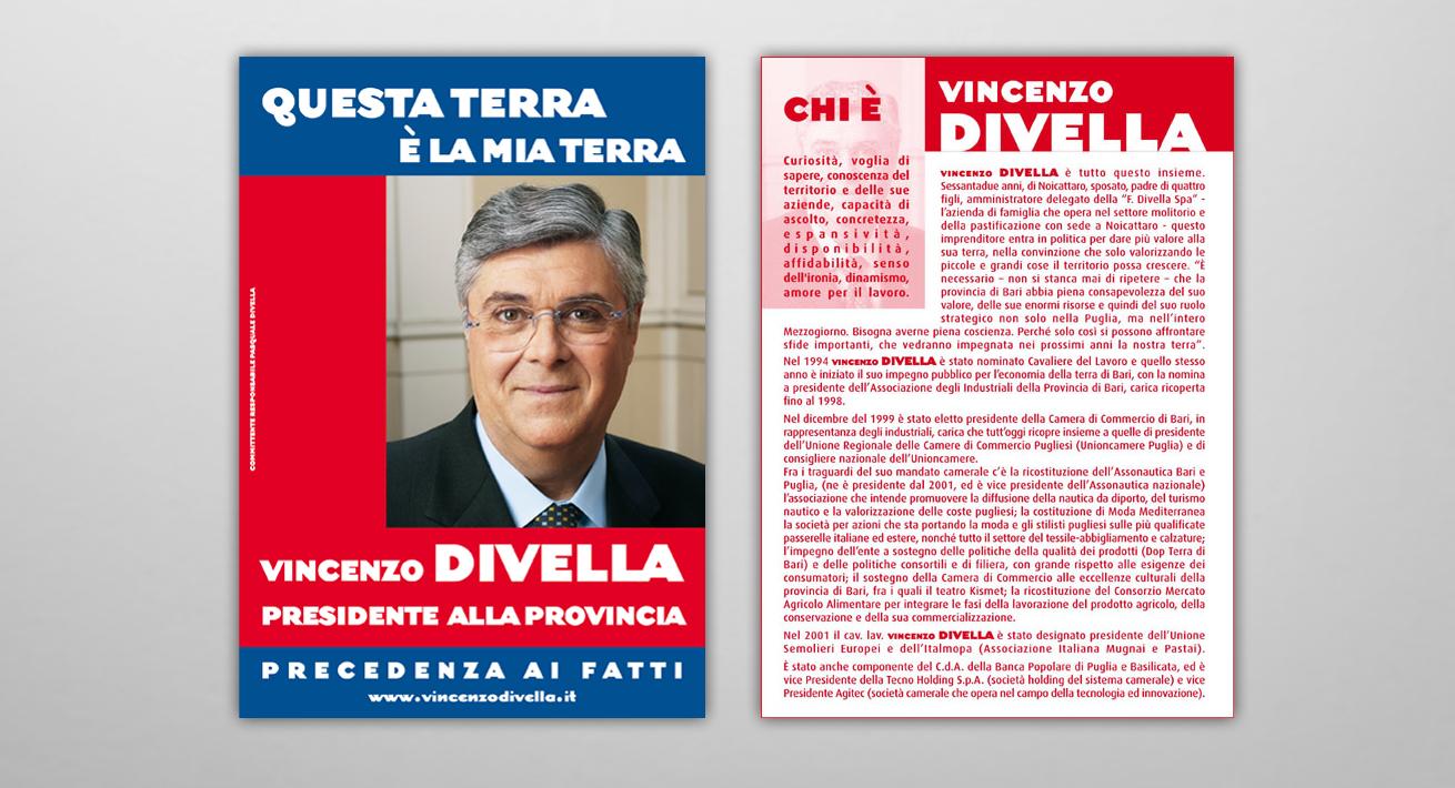 Campagna di comunicazione - Candidato Divella