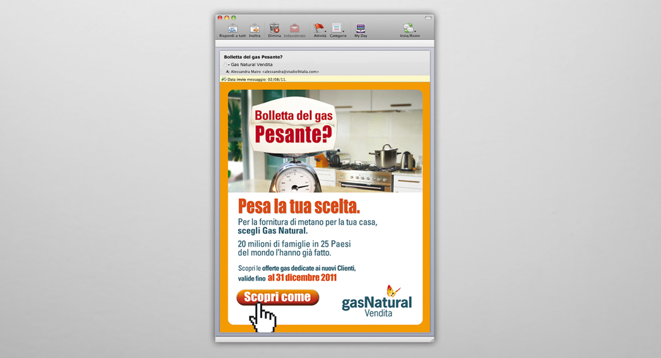 Direct Email marketing Pesa la tua scelta - Gas Natural Vendita